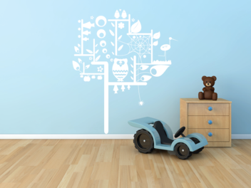 Samolepky na zeď - Dětský strom