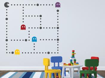 Samolepky na zeď - Pacman