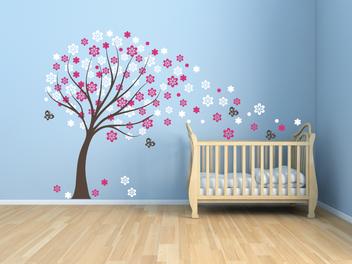 Samolepky na zeď - Jarní strom
