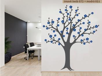 Samolepky na zeď - Rozkvetlý strom v2