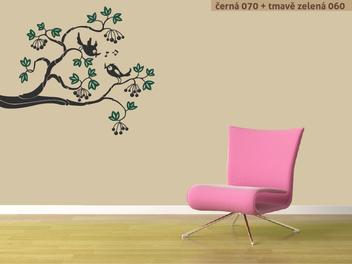 Samolepky na zeď - Ptáčci na větvi