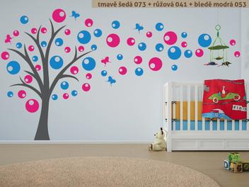 Samolepky na zeď - Strom s bublinkami