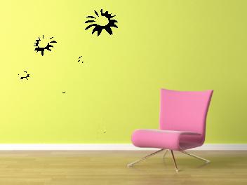 Samolepky na zeď - Luční květy