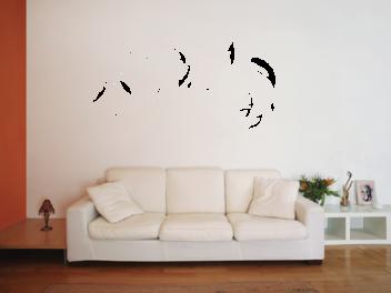 Samolepky na zeď - Ornament s květy v2