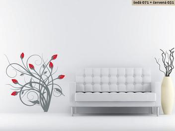 Samolepky na zeď - Keřík růží