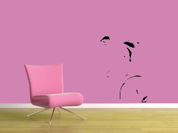 Samolepky na zeď - Moderní květina