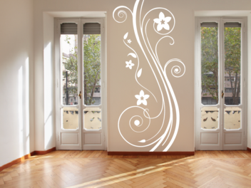 Samolepky na zeď - Vysoký ornament V1
