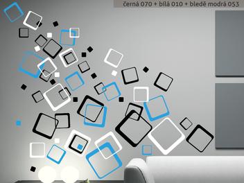 Samolepky na zeď - Barevné čtverce