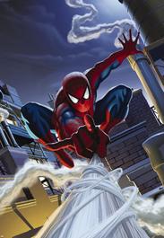 Fototapety - Spiderman na střeše