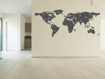 Samolepky na zeď - Letecká mapa světa