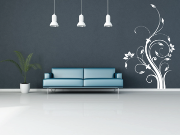 Samolepky na zeď - Vysoký ornament V2