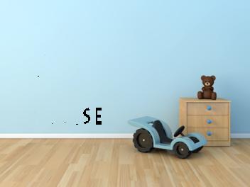 Samolepky na zeď - Pravidla dětského pokoje