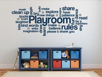 Samolepky na zeď - Pravidla dětského pokoje EN