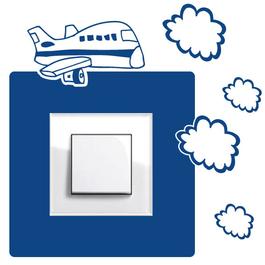Samolepky na vypínače - Dopravní letadlo
