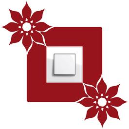 Samolepky na vypínače - Dva květy