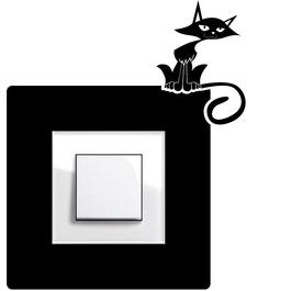 Samolepky na vypínače - Kočka