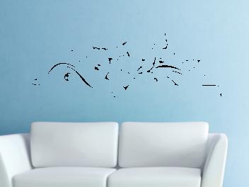 Samolepky na zeď - Květinový ornament V4