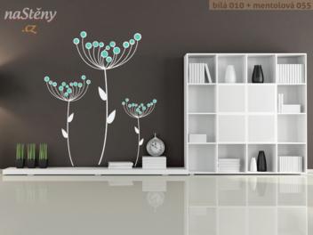 Samolepky na zeď - Suché květy v2