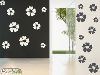 Samolepky na zeď - Květy dvoubarevné 2