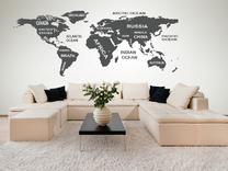 Mapa světa s popisky
