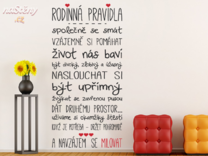 Samolepka na zeď - Naše pravidla